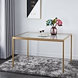 Mainstays Tempered Glass and Metal Dining Table