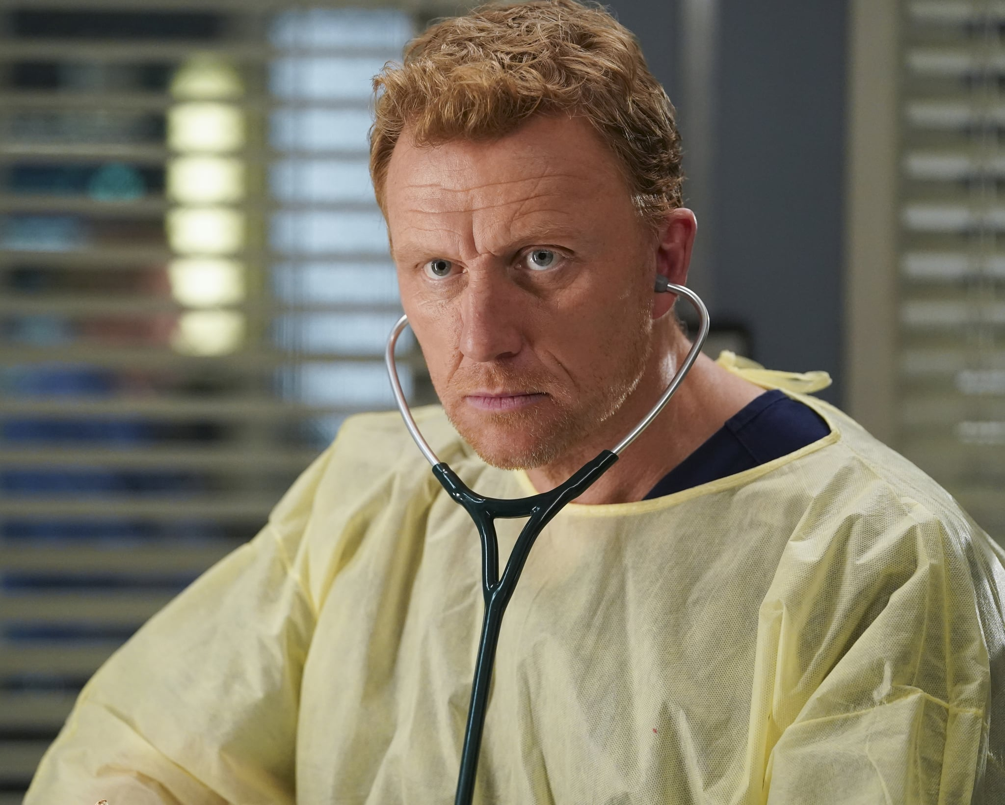 GREYS ANATOMY - Put on a Happy Face  Link tries to convince Amelia to take it easy during the final stage of her pregnancy. Hayes asks Meredith a surprising question, and Owen makes a shocking discovery, on the season finale of Greys Anatomy, THURSDAY, APRIL 9 (9:00-10:01 p.m. EDT), on ABC. (ABC/Gilles Mingasson)KEVIN MCKIDD