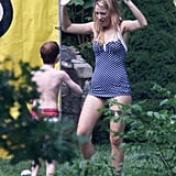 Blake Lively had fun with some younger family members in New York for the Fourth of July.