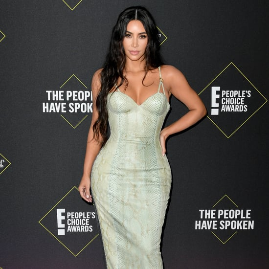 Kim Kardashian in Versace at the People's Choice Awards 2019