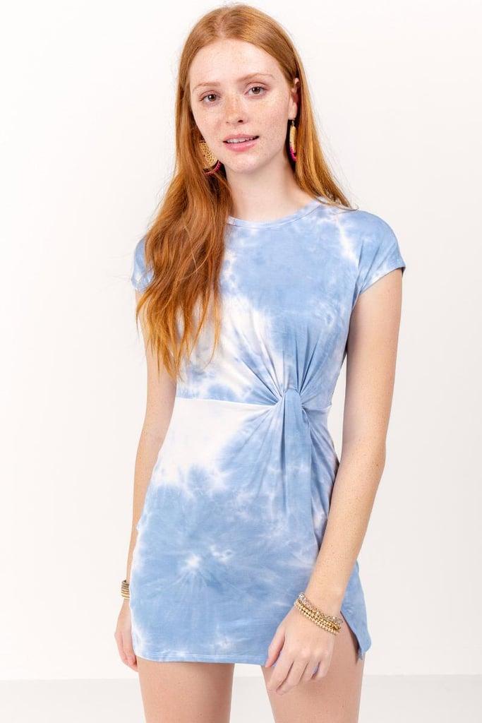 Francesca's Fawn Tie Dye Dress
