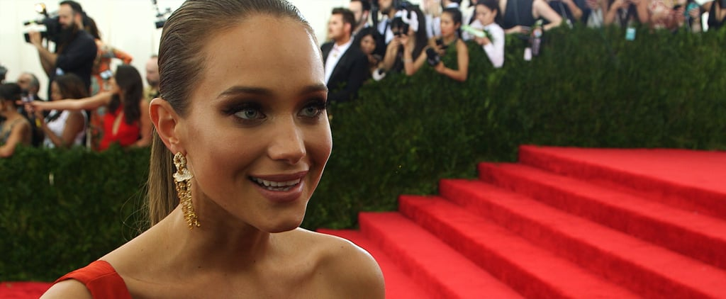 "Sports Illustrated Star Hannah Davis Was ""Trying to Look Pretty"" at Her First Met Gala"