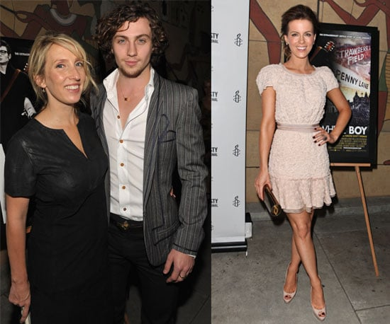 Pictures of Aaron Johnson and Sam Taylor-Wood At Nowhere Boy LA Premiere With Kate Beckinsale