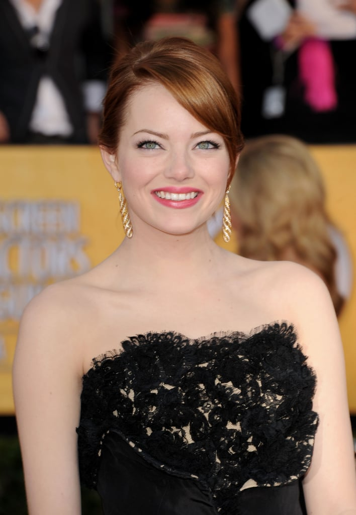 Emma Stone attended the 2012 SAGs.