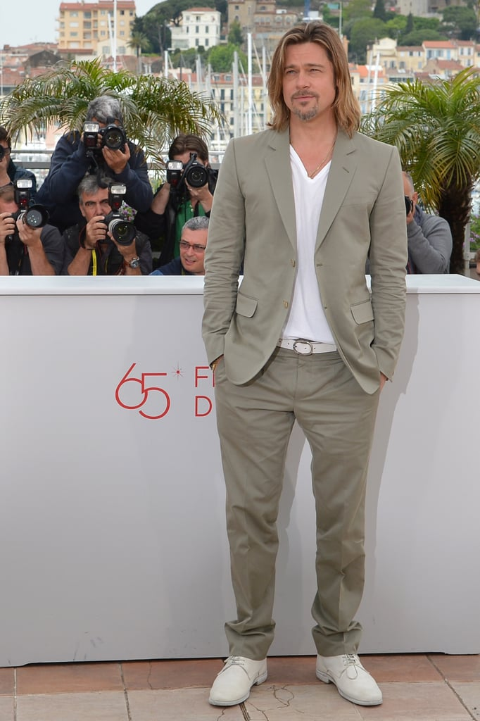 Brad Pitt attended a photocall in Cannes to promote Killing Them Softly in May.