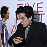 Cole Sprouse Brings Bread to Five Feet Apart Premiere
