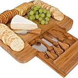 Trademark Innovations Bamboo Cheese Serving Tray