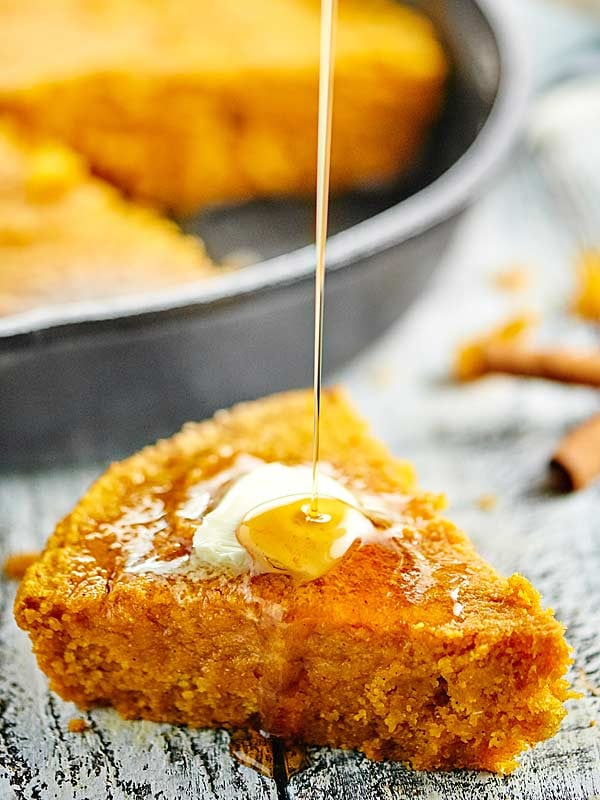 Vegan Pumpkin Cornbread