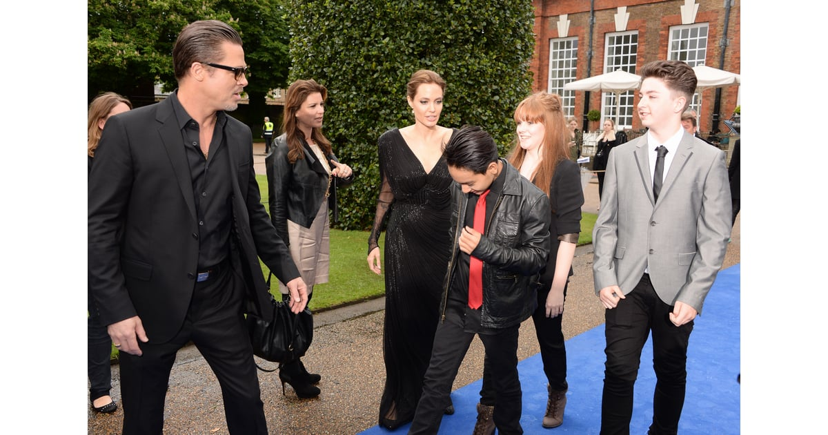 angelina jolie and brad pitt at maleficent event in london