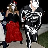 Hilary Duff and Mike Comrie painted their faces for a party in LA on Friday.