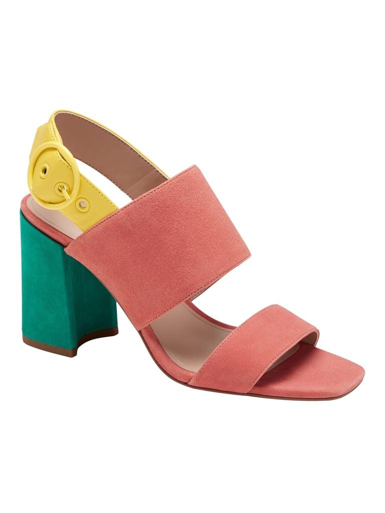 Two-Strap Block-Heel Sandals