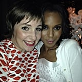 Lena Dunham got a little starstruck while posing with Kerry Washington at a pre-Emmys soiree. Source: Instagram user lenadunham