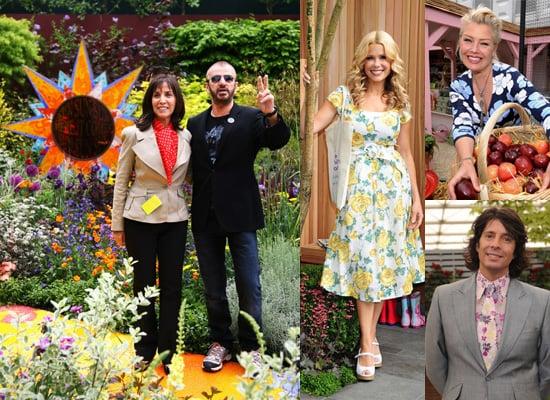 Melinda Messenger, Ringo Starr and Olivia Harrison at RHS Chelsea Flower Show