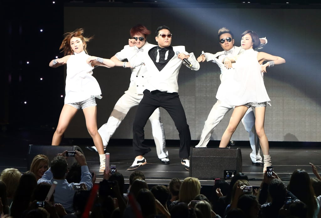 "Psy performed ""Gangnam Style."""
