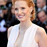 Jessica Chastain donned a pretty pink dress for the opening of the Cannes Film Festival and premiere of Moonrise Kingdom.