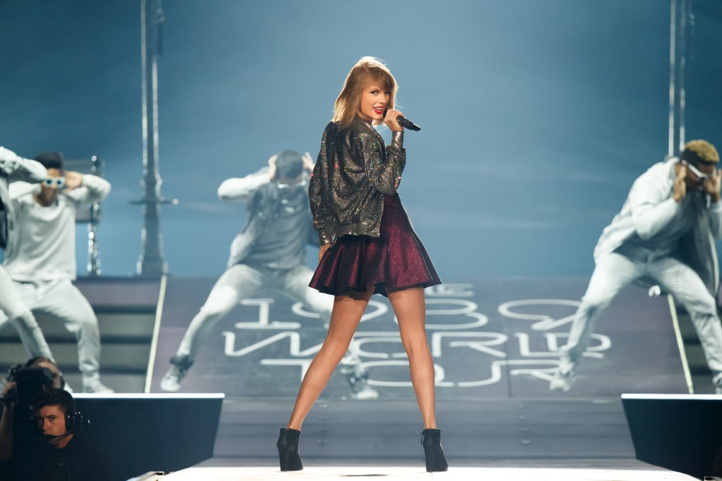 It's been an exciting year for Taylor Swift for a lot of reasons, including her big 1989 World Tour. Over the past few months, the singer has traveled around the world to perform for fans, showing off her incredible style and belting out her best hits. When she isn't travelling, Taylor's sharing cute moments with boyfriend Calvin Harris and just, you know, single-handedly changing the music industry. For a look at some of her recent stage moments, keep reading for pictures and videos from her tour, then check out Taylor Swift's most thoughtful, empowering quotes on life and love.