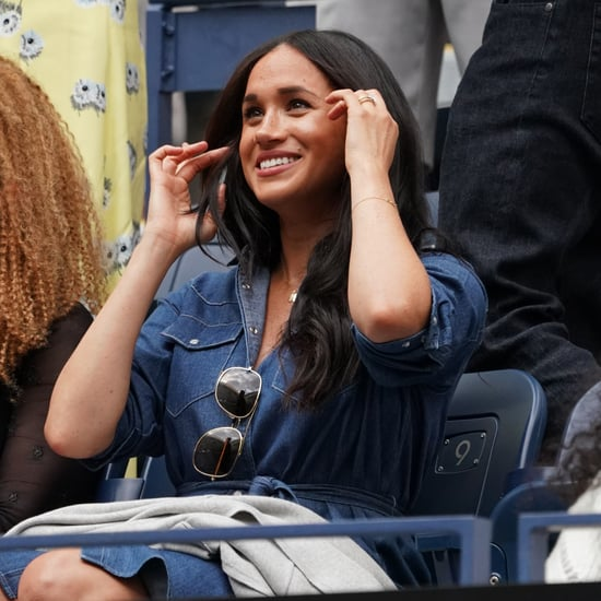 Meghan Markle Wears Denim Dress at the 2019 US Open