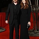 Christian Bale and his wife, Sibi Blazic, attended the Exodus: Gods and Kings premiere in London on Wednesday.