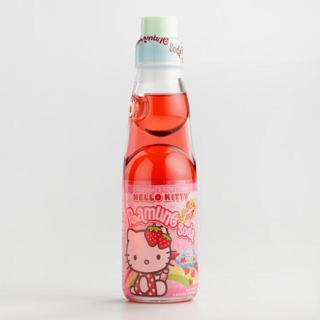 Hello Kitty Ramune Strawberry Soda