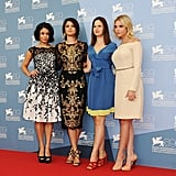 Selena Gomez, Vanessa Hudgens, Rachel Korine, and Ashley Benson were all in attendance at the Spring Breakers photocall in Venice.