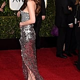 Dakota Spun Around and Let Us Admire Her Sequined Dress From the Side