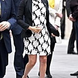 Meghan Markle Work Outfit Idea: A Printed Dress and Blazer