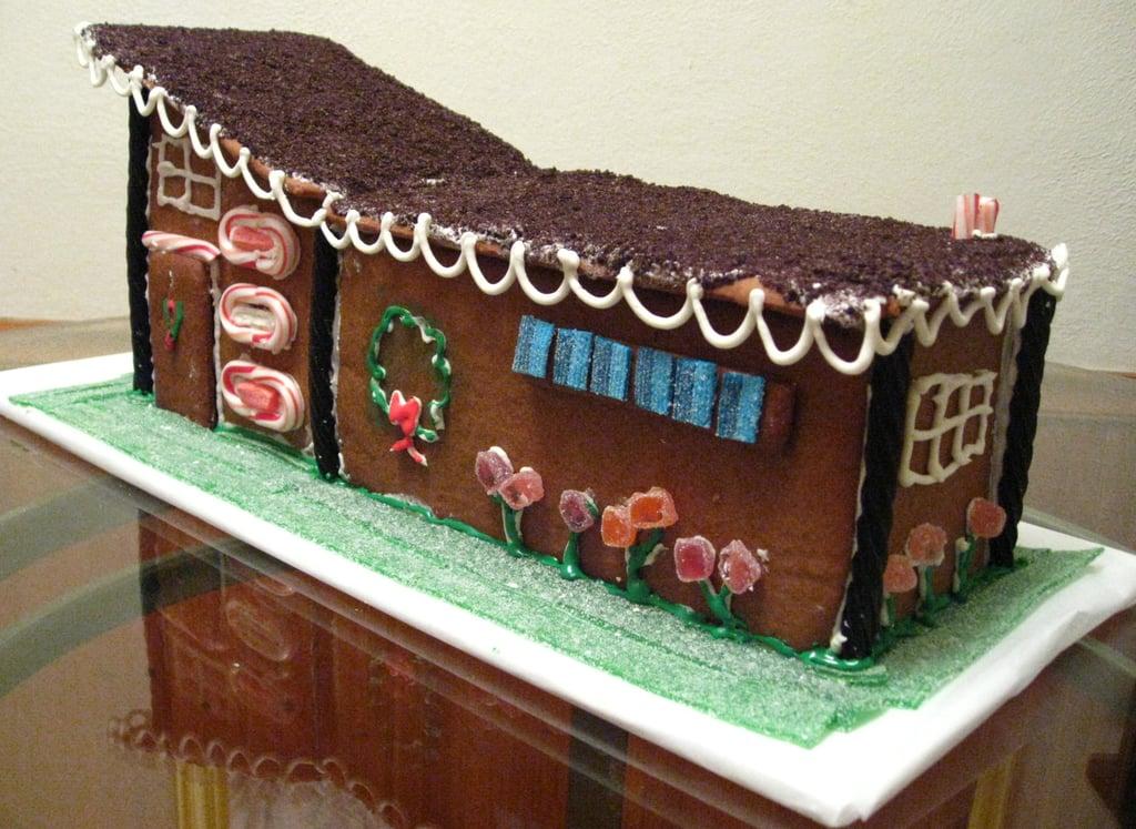 Mid-Century Modern Gingerbread House