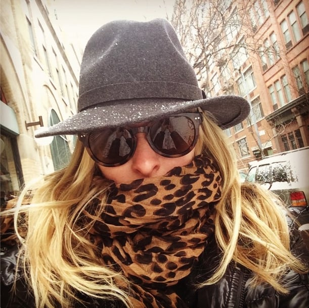 Nicky Hilton braved a New York blizzard and still looked chic. Source: Instagram user nickyhilton