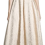 Monique Lhuillier One-Shoulder Metallic Ball Gown ($798)