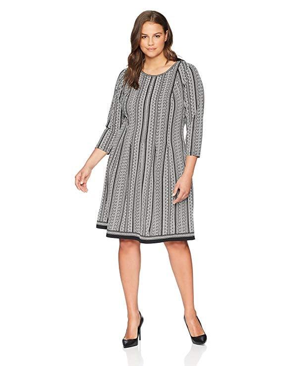 Lark & Ro Plus Size Three Quarter Sleeve Dress | 21 Casual ...