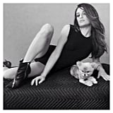 Lea Michele struck a pose alongside her new puppy, Pearl. Source: Instagram user msleamichele