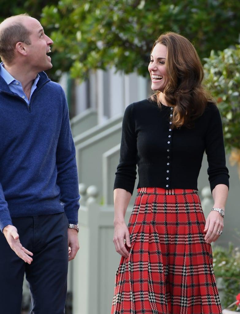 Kate Middleton's Plaid Midi Skirt December 2018