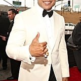 LL Cool J gave a thumbs up on the red carpet.