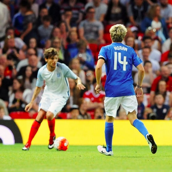 Niall Horan and Louis Tomlinson Soccer Aid Game June 2016