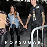 Shenae Grimes and her husband, Josh Beech, arrived together.