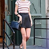 On Thursday, Taylor Swift showed off her legs in NYC.