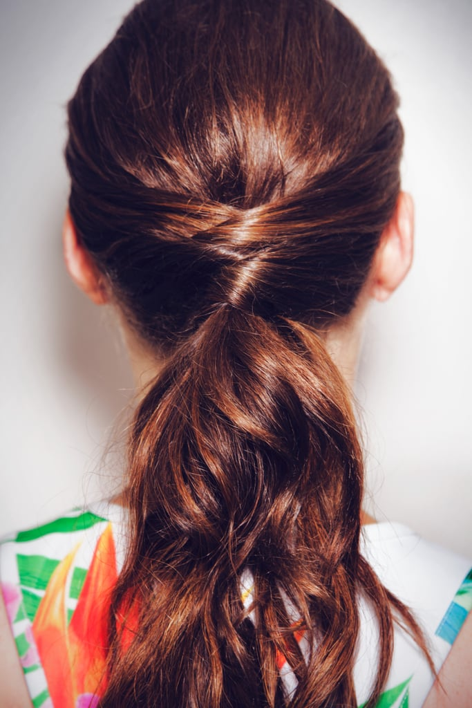 how to find the right hair style how to do a criss cross ponytail from popsugar 2646