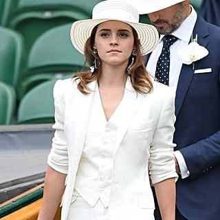 Emma Watson Ralph Lauren Wimbledon Outfit 2018