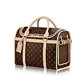 For the jet-set pet, there's no more stylish way to travel than inside the first-class cabin of this Louis Vuitton monogram dog carrier ($2,690). Still not impressed? Get it personalized with stamped initials.
