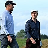Jamie Dornan and Damian Lewis Playing Golf