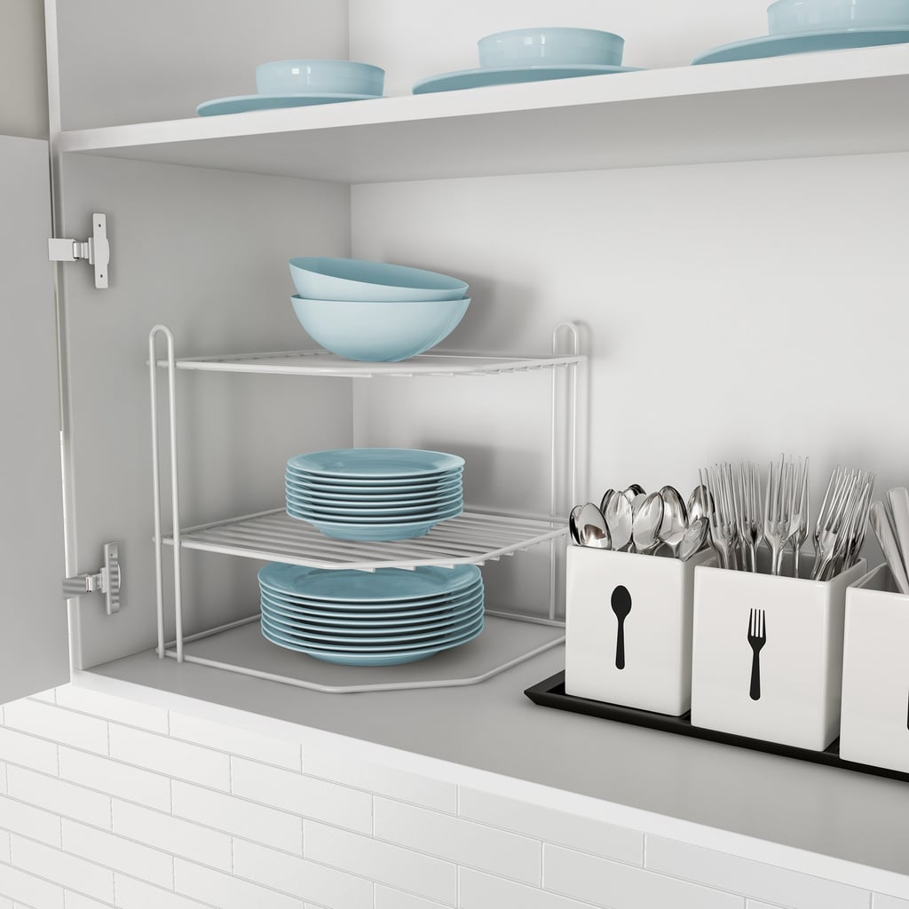 2-Tiered Corner Shelf