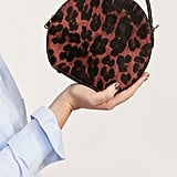 Violeta By Mango Leopard Leather Crossbody Bag