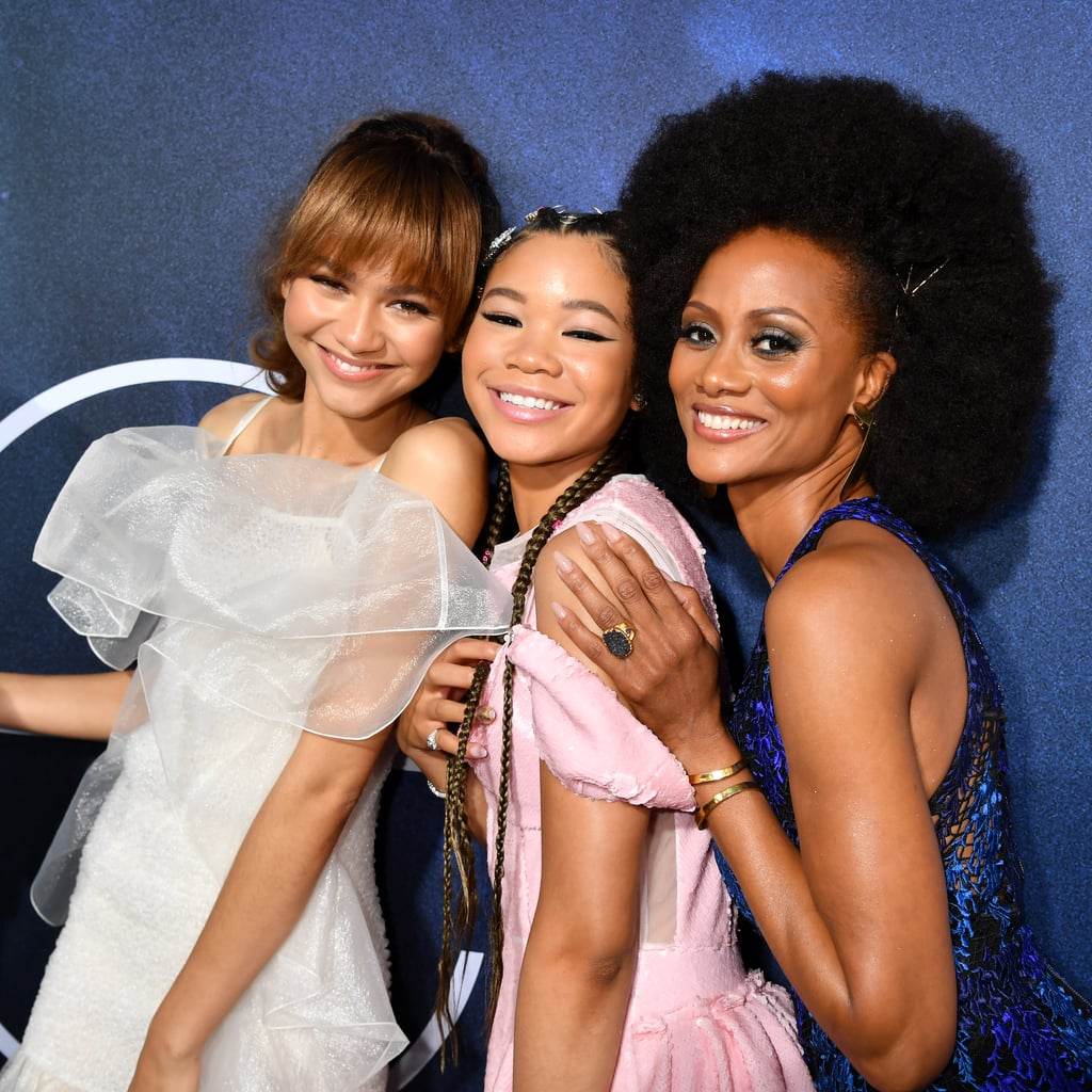 "All eyes were likely on Zendaya when she stepped out for the LA premiere of her new HBO show, Euphoria, on Tuesday night. The 22-year-old actress stunned in a heavenly white dress and was joined by costars Alexa Demie, Maude Apatow, Barbie Ferreira, Sydney Sweeney, Storm Reid, Hunter Schafer, Jacob Elordi, and Nika King, as well as executive producer Drake. I guess it was a good thing the Toronto Raptors weren't playing the Golden State Warriors that night.  Euphoria is based on the Israeli series of the same name and follows a group of high school students as they navigate through drugs, sex, identity, trauma, social media, love, and friendship. Think: Netflix's 13 Reasons Why. During the premiere, Zendaya spoke to ET about her challenging role as Rue Bennett, saying, ""I think we've all had to push ourselves and be vulnerable. It's been hard and there's been fun days and there's been really tough days."" The eight-episode season premieres on HBO on June 16.       Related:                                                                                                                                We Demand More Footage of Zendaya's Dog in Her Open Interview With Vogue"