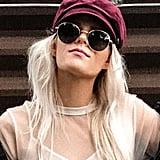 Forever 21 Velvet Cabbie Hat