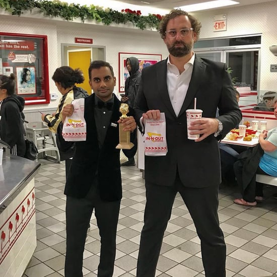 Aziz Ansari Eating In-N-Out Burger After 2018 Golden Globes