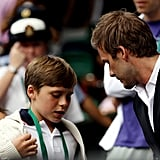 Pictures of David Beckham and Brooklyn at Wimbledon