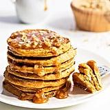 3-Ingredients Pumpkin Pancakes With Caramel Sauce
