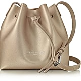 Lancaster Paris Pur & Element Champagne Saffiano Leather Mini Bucket Bag (£107)