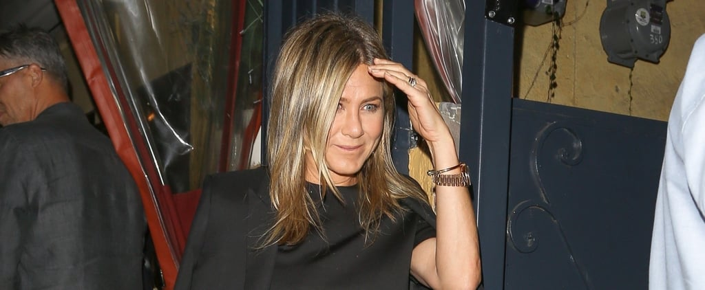It Looks Like Jennifer Aniston's Jacket Is Straight Out of Justin Theroux's Closet