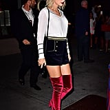 Taylor's Red Velvet Boots